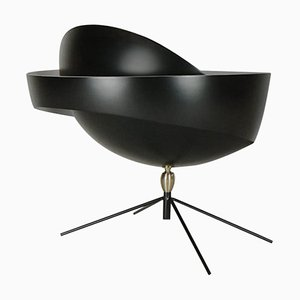 Black Saturn Table Lamp by Serge Mouille