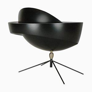 Lámpara de mesa Saturn en negro de Serge Mouille
