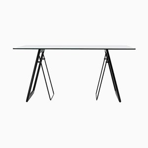 Table Desk Safari T87 Stainless Steel or Oak by Peter Ghyczy