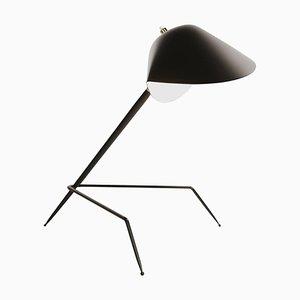 Schwarze Dreibein Lampe von Serge Mouille
