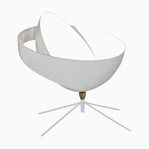 Lampada da tavolo Saturn bianca di Serge Mouille