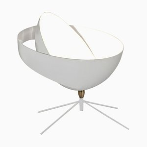 White Saturn Table Lamp by Serge Mouille