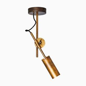 Stav Spot 1 Brass Ceiling Lamp by Johan Carpner for Konsthantverk