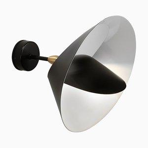 Lampada da parete Saturn nera di Serge Mouille
