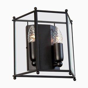 Lámpara de pared Glimminge pequeña en negro de Konsthantverk