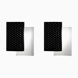 Black B205 Wall Sconce Lamp Set by Michel Buffet, Set of 2