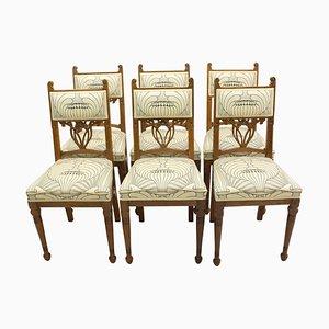 Oak Art Nouveau Chairs, Germany, Set of 6