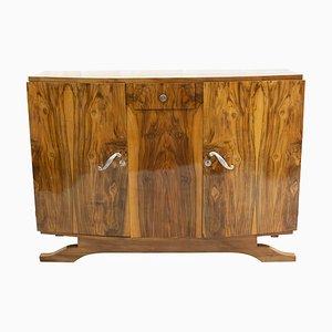 French Art Deco Walnut Veneer Sideboard