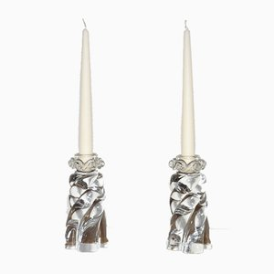Aladdin Candlesticks from Baccarat, France, 1960s, Set of 2
