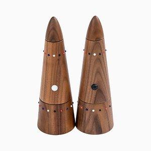 Macinasale e macinapepe di SoShiro Pok Collection in legno di noce, 2019, set di 2