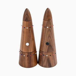 Salt Mill & Pepper Grinder Set from the SoShiro Pok Collection in Walnut, 2019, Set of 2