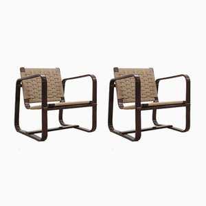 Armchairs by Giuseppe Pagano for Gino Maggioni, 1940s, Set of 2