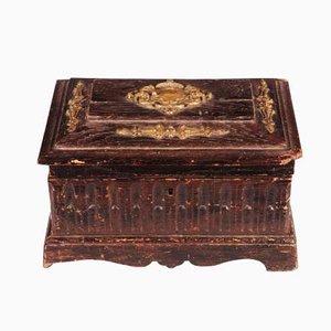 Antike Box aus Eichenholz