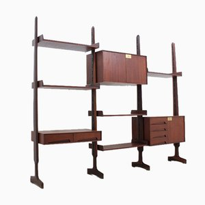 Teak Bookcase by Edmondo Palutari for Dassi, 1950s