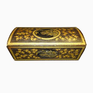 Meiji Period Wooden Chest in Urushi Lacquer, Japan, 1800s