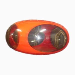 Vintage Space Age Red Oval UFO Lamp by Luigi Colani for Massive, 1970s
