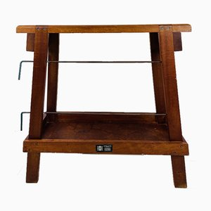 Vintage English Wooden Weaving Stool or Bench from Harris Looms