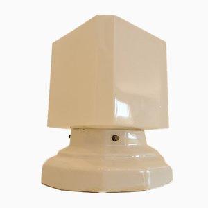 Art Deco Lampe in Weiß