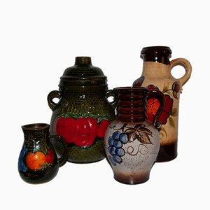 Vintage Haushaltsvase aus Keramik, 4er Set
