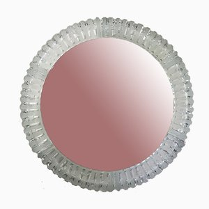 Illuminated Mirror with Glass Frame, 1970s