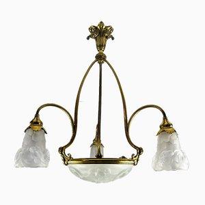 Deckenlampe von Degue, Frankreich, 1920er
