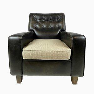 Vintage Dark Brown Leather Chair