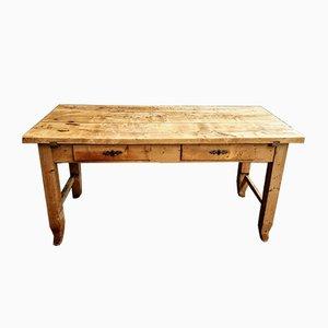 Mesa de trabajo o escritorio de panadero vintage