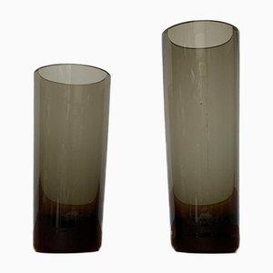 Vintage German Glass Fortuna Line Vases from Rosenthal, Set of 2