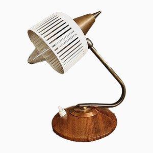 Vintage Tisch- oder Schreibtischlampe aus Teak, 1960er
