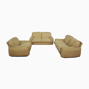 Sofas and Armchair in Wool from Busnelli, 1970s, Set of 3