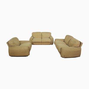 Sofas und Sessel aus Wolle von Busnelli, 1970er, 3er Set