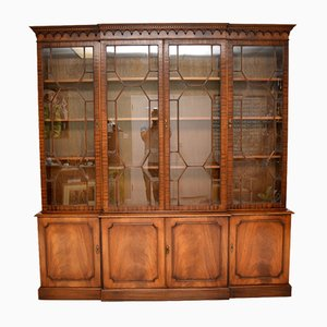 Antique Georgian Style Breakfront Bookcase