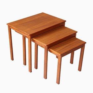 Vintage Teak Nesting Tables, Set of 3