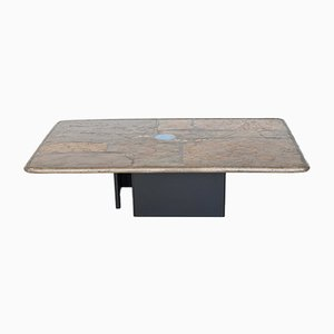 Brown Rectangle Coffee Table by Paul Kingma, The Netherlands, 1999