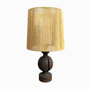 Teak Table Lamp from Temde, Germany, 1960s