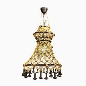 Mackrame Typ 886 Deckenlampe von Temde, 1960er
