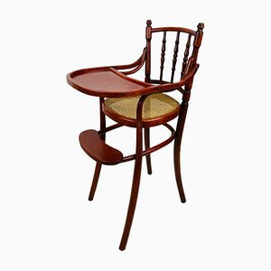 Antique Bentwood & Cane Childs High Chair
