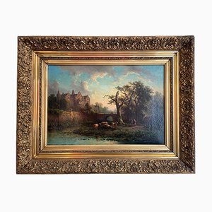 Pittura ad olio, Johannes Hilverdink, Weidescene romantica