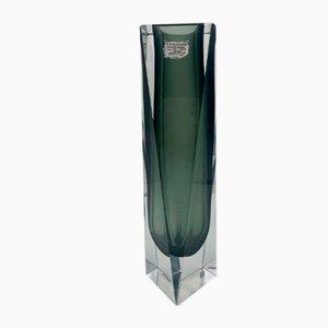 Black and Clear Murano Glass Vase by Alessandro Mandruzzato, 1960s