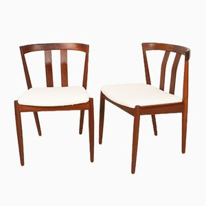 Dänische Vintage Esszimmerstühle aus Teak, 1960er, 2er Set