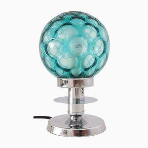 Kleine Mid-Century Modern Bubble Glas und Verchromte Metall Tischlampe