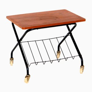 Stringbord Side Table in Teak, Sweden, 1950s