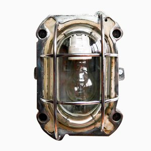 Grilled Steel Cast Iron Sconce