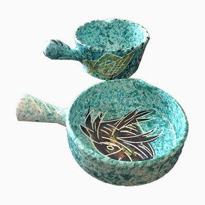 Keramikstücke von Borty Vallauris, 2er Set