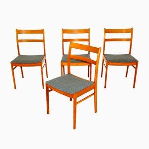 Buchenholz Stühle, Schweden, 1960er, 4er Set