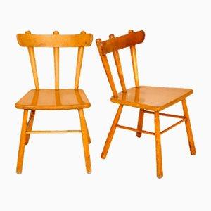 Skandinavische Stühle, Schweden, 1950er, 2er Set