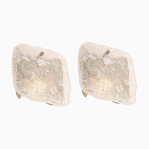 Glass Sconces from Kalmar, Austria, 1960s, Set of 2