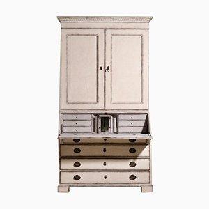 Scandinavian 2-Part Bureau with Secret Compartment Behind Glass, 1790s