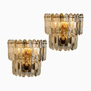 Palazzo Wall Lights in Gilt Brass and Glass by J. T. Kalmar, Set of 2