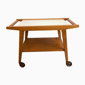 Mid-Century Wooden Tea Cart
